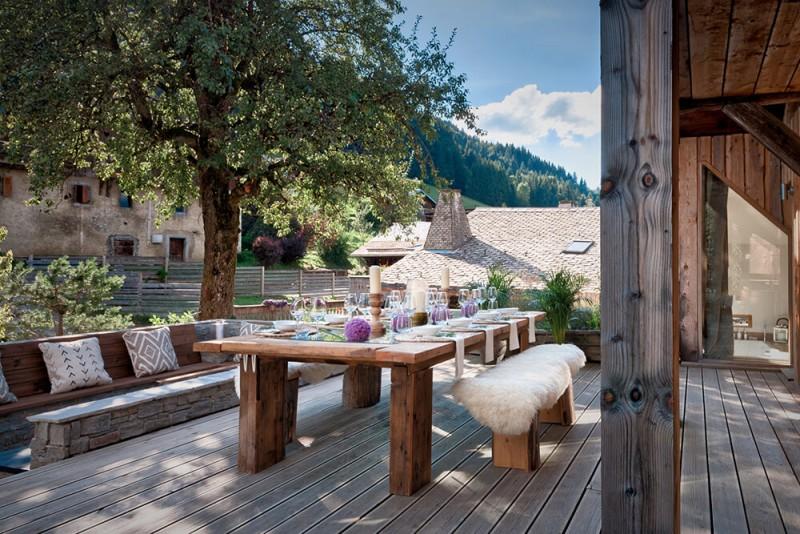 Morzine Luxury Rental Chalet Merlinute Terrace 3