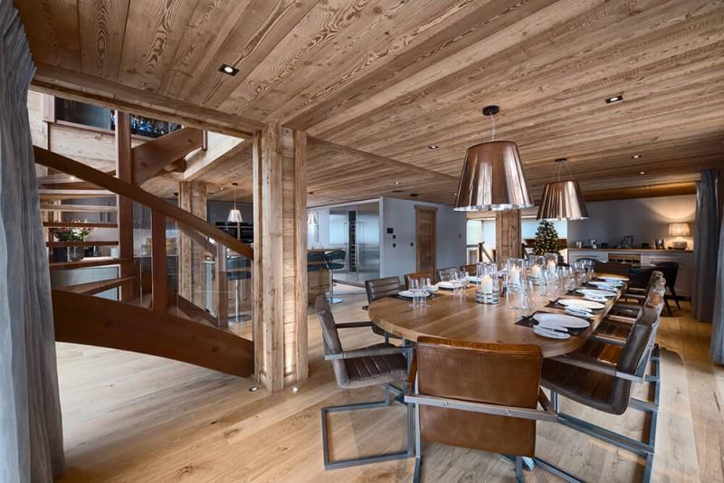 Morzine Luxury Rental Chalet Morzanite Dining Room