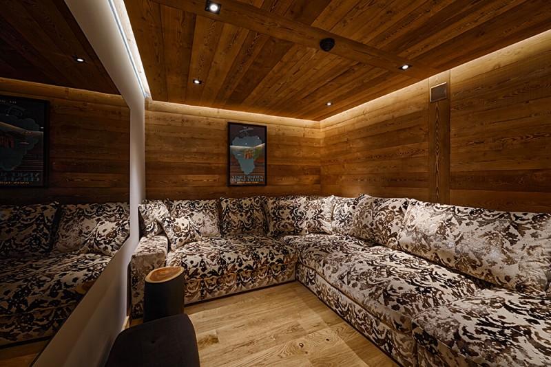 Morzine Luxury Rental Chalet Morzanite Cinema Room