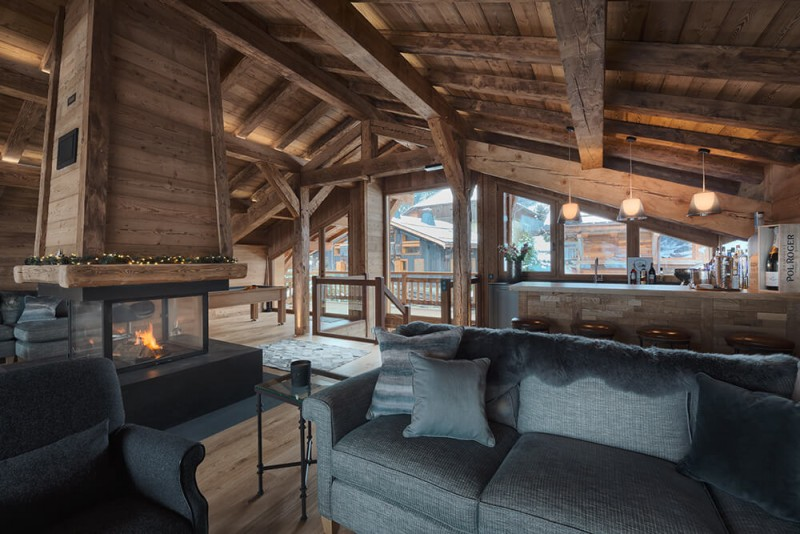 Morzine Luxury Rental Chalet Morzanite Living Room 3