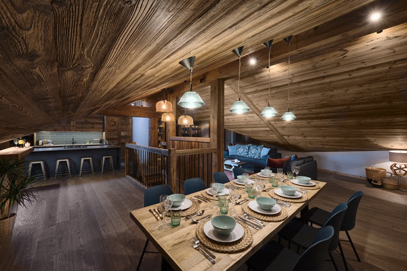Morzine Luxury Rental Chalet Morzute Dining Room