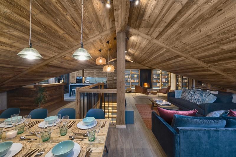 Morzine Luxury Rental Chalet Morzute Living Room