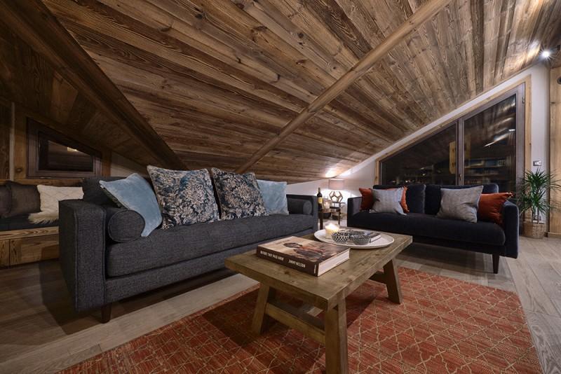 Morzine Luxury Rental Chalet Morzute Living Room 3