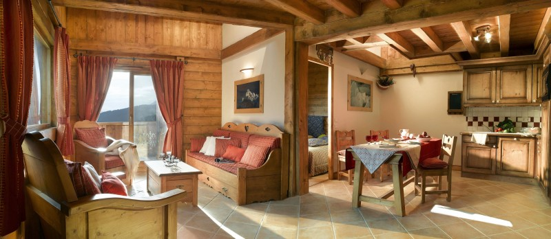 Peisey Vallandry  Location Appartement Luxe Magic Stone Salon