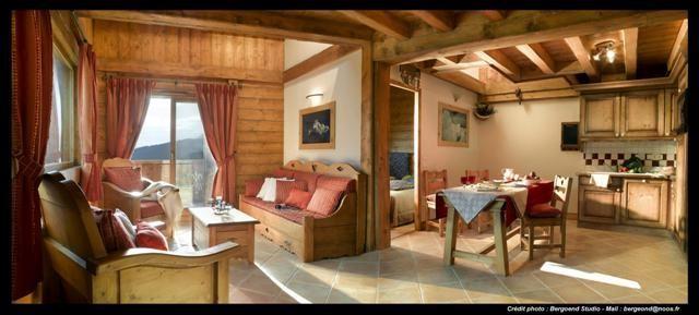 Peisey Vallandry  Location Appartement Luxe Marbre Onyx Salon