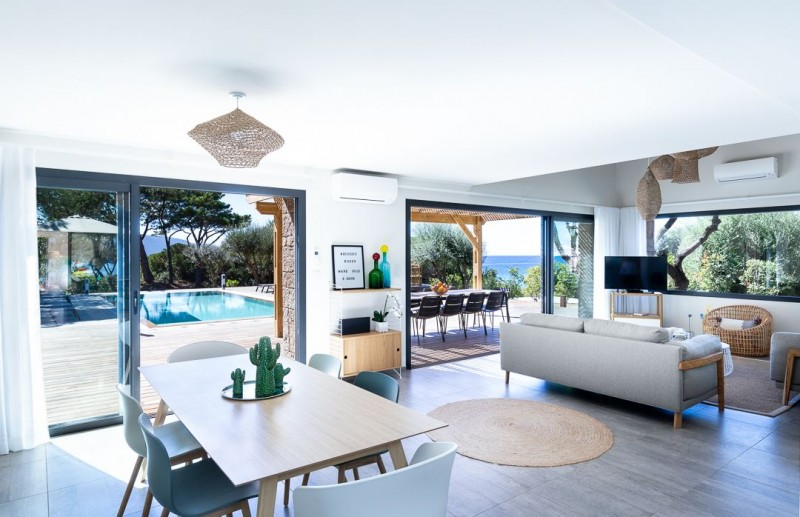 Propriano Location Villa Luxe Prelis Séjour 1