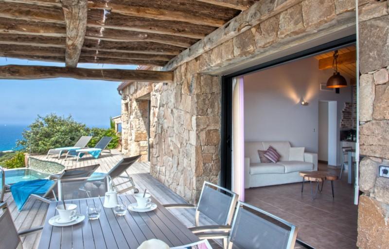 Propriano Location Villa Luxe Prelou Terrasse