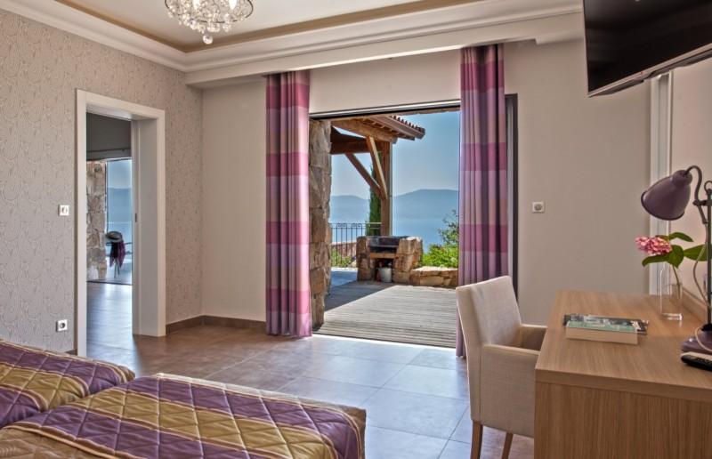 Propriano Location Villa Luxe Prelou Vue Chambre 2