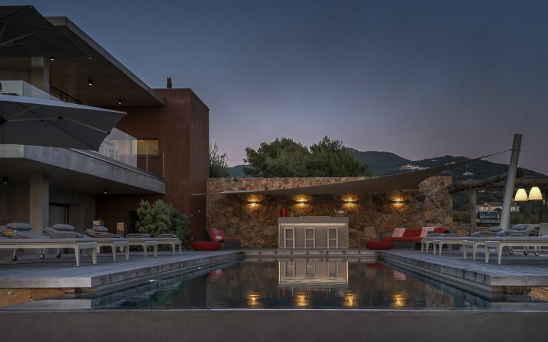 Propriano Location Villa Luxe Pyrile Piscine Nuit