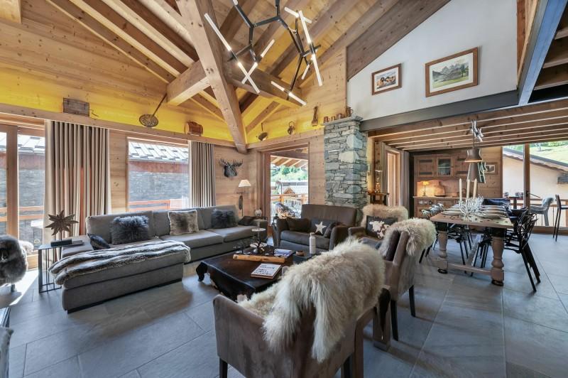 Saint Martin Belleville Luxury Rental Chalet Ipalou Living Room