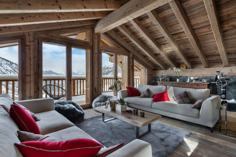 Saint Martin De Belleville Luxury Rental Chalet Ipaliu Living Room 2