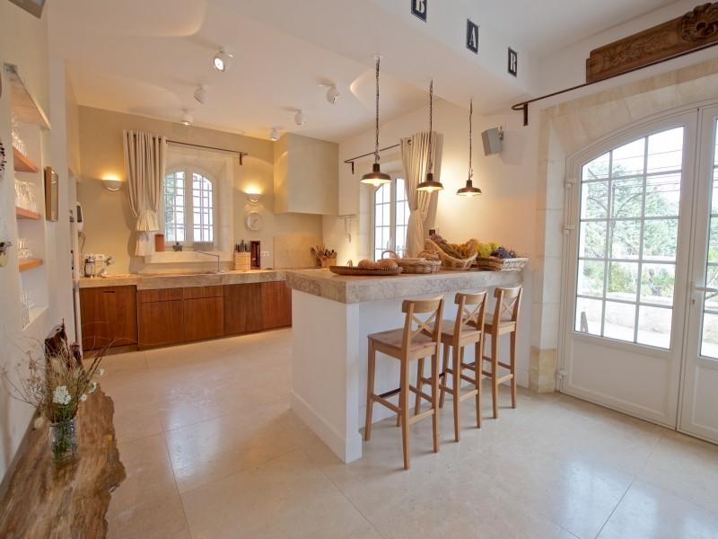 Saint Rémy De Provence Location Villa Luxe Molduvite Cuisine