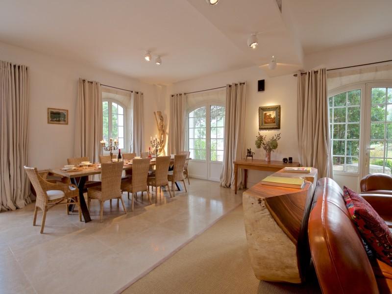 Saint Rémy De Provence Location Villa Luxe Molduvite Séjour