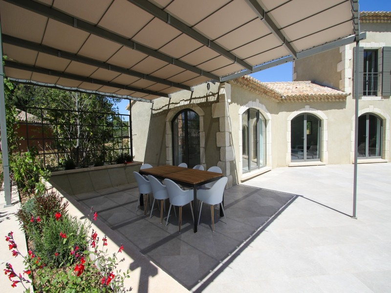 Saint Rémy De Provence Luxury Rental Villa Murcasite Covered Terrace
