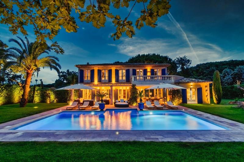 Saint-Tropez Location Villa Luxe Teel Extérieur Nuit