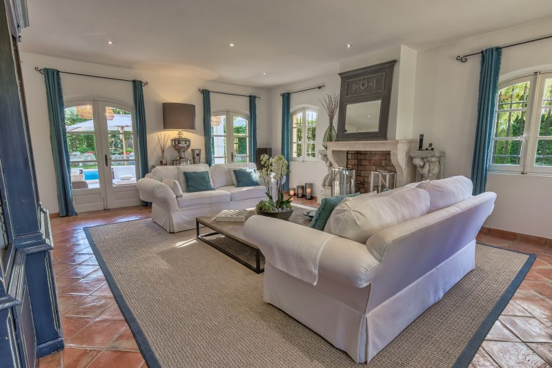 Saint-Tropez Location Villa Luxe Teel Salon