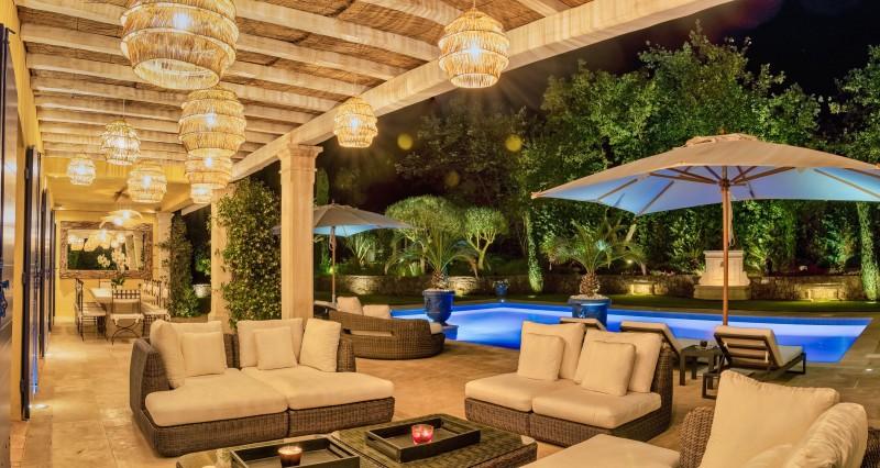 Saint-Tropez Location Villa Luxe Teel Terrasse Nuit