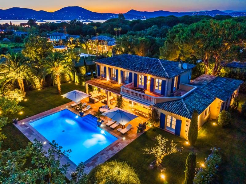 Saint-Tropez Location Villa Luxe Teel Vue Jardin