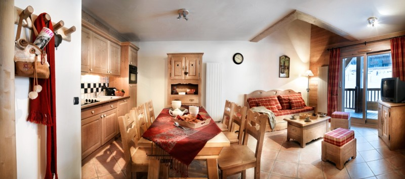 Sainte Foy Tarentaise Location Appartement Luxe Love Stone Duplex Salon