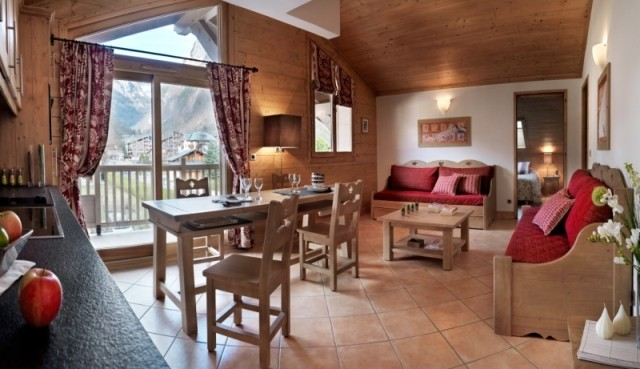 Samoens Location Appartement Luxe Salim Salon