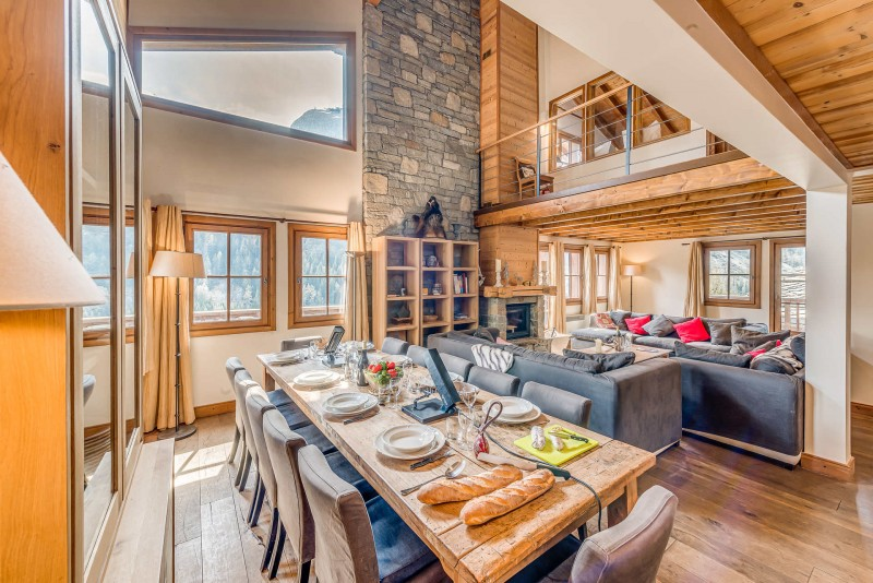Tignes Luxury Rental Chalet Exokate Dining Room