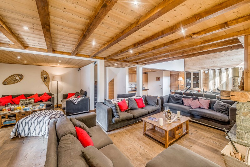 Tignes Luxury Rental Chalet Exokate Living Room