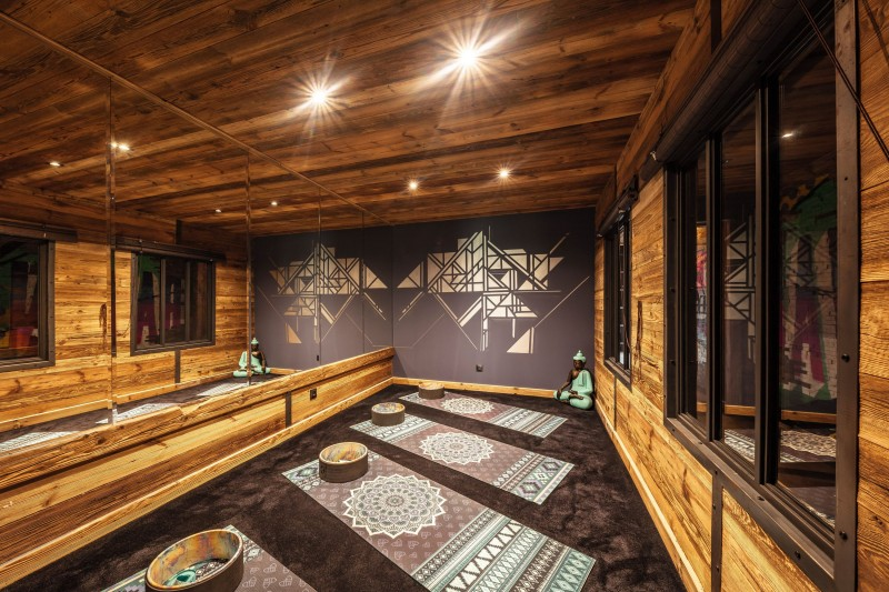 Tignes Location Chalet Luxe Tanzonite Salle De Yoga