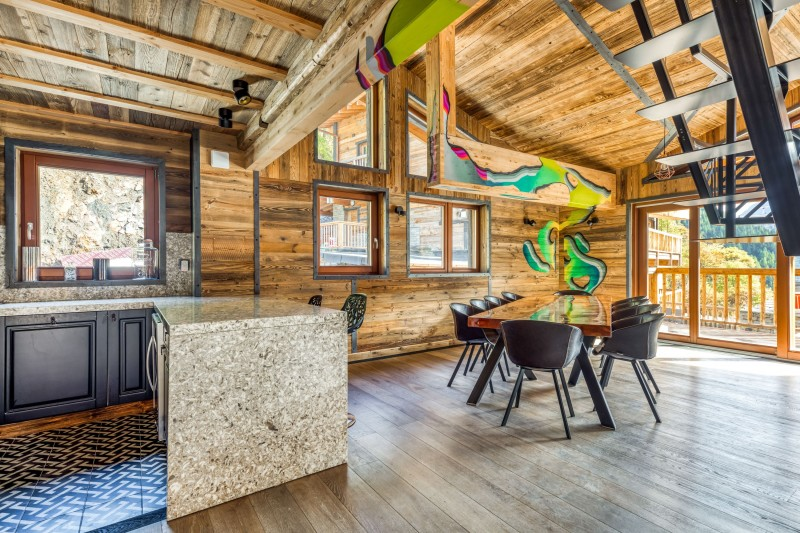 Tignes Location Chalet Luxe Tanzonite Salle Manger