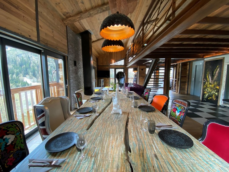 Tignes Location Chalet Luxe Tecala Table A Manger