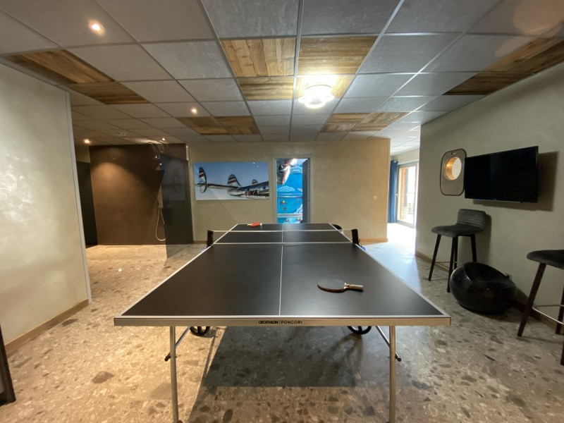 Tignes Location Chalet Luxe Turquoize Ping Pong