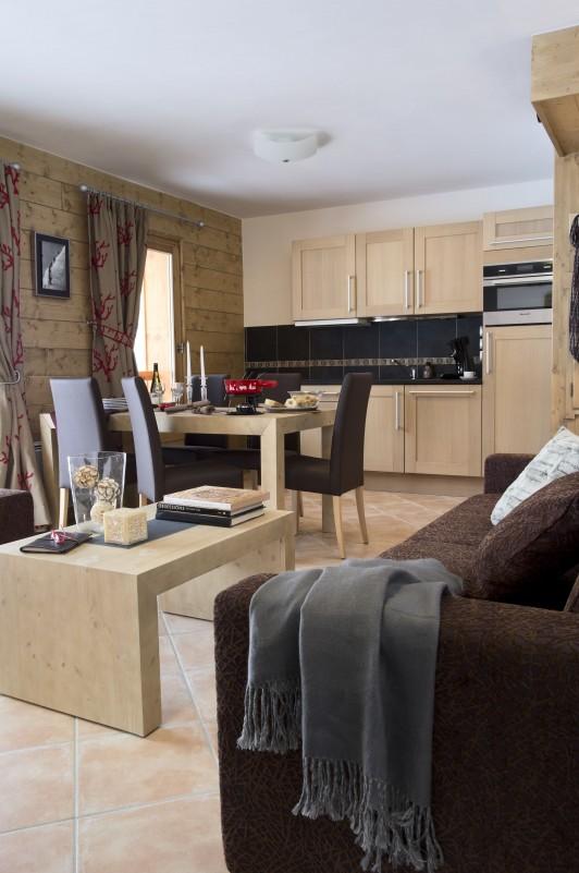 Val Cenis Location Appartement Luxe Verre Opalin Salon