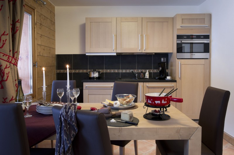 Val Cenis Location Appartement Luxe Verre Saphir Cuisine