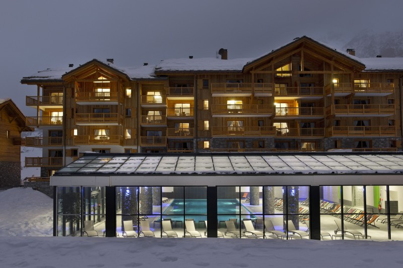 Val Cenis Location Appartement Dans Résidence Luxe Verre Saphir Duplex Extérieur