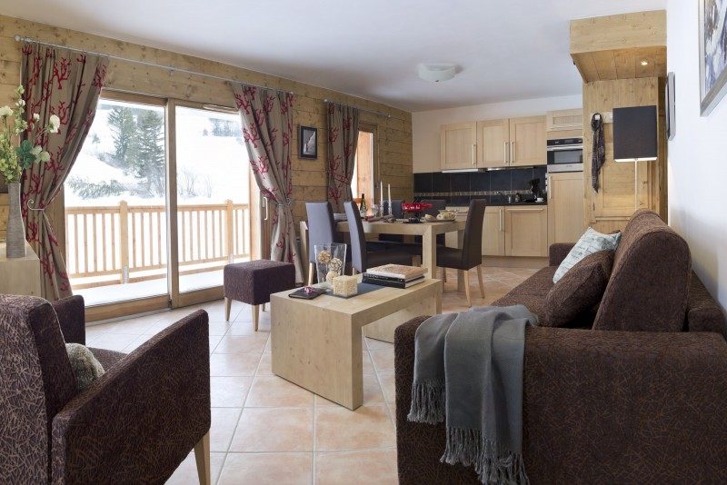 Val Cenis Location Appartement Luxe Verre Saphir Salon