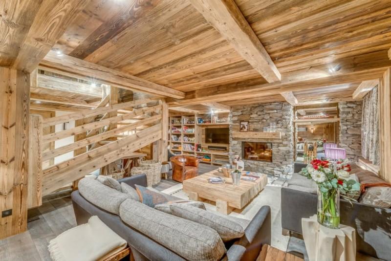 Val d'Isère Location Appartement Dans Résidence Luxe Solena Salon