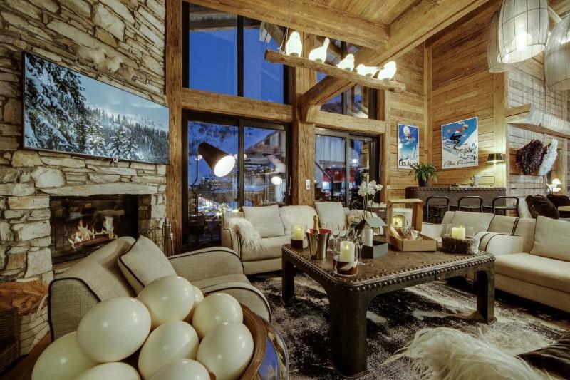 Val d'Isère Luxury Rental Appartment Aramias Living Area
