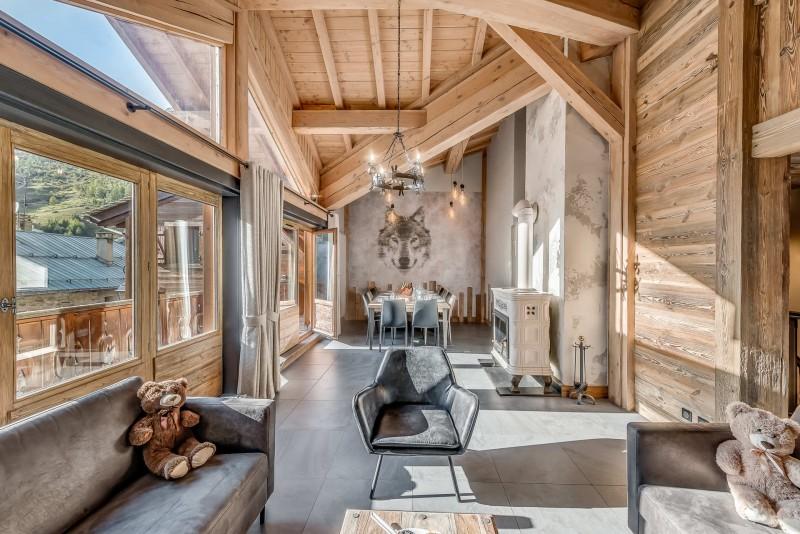 Val d'Isère Location Appartement Luxe Cranzate Salon