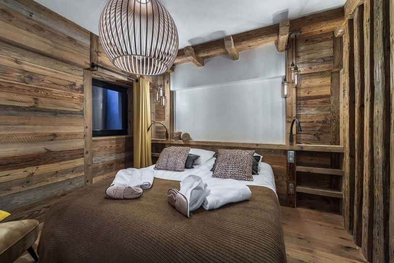 Val d'Isère Location Appartement Luxe Tapiza Chambre