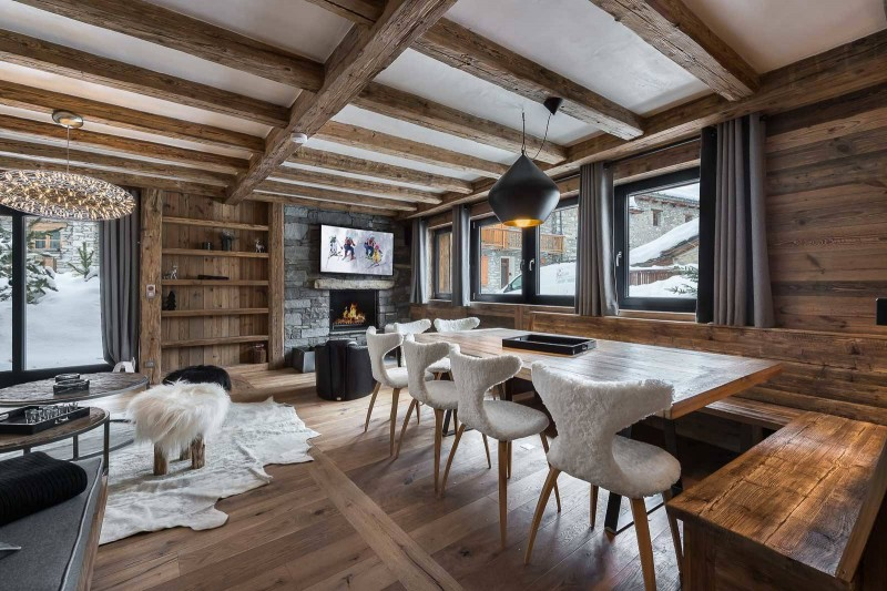 Val d'Isère Location Appartement Luxe Tapiza Salle A Manger