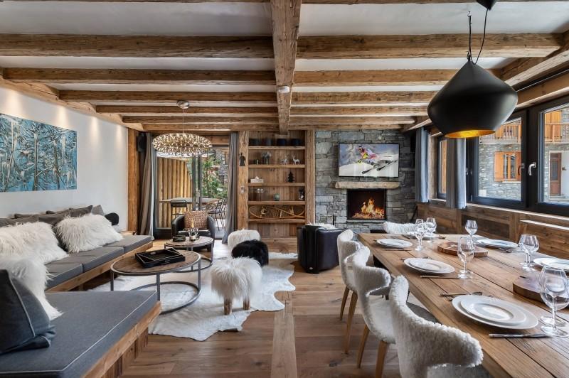 Val d'Isère Location Appartement Luxe Tapiza Séjour
