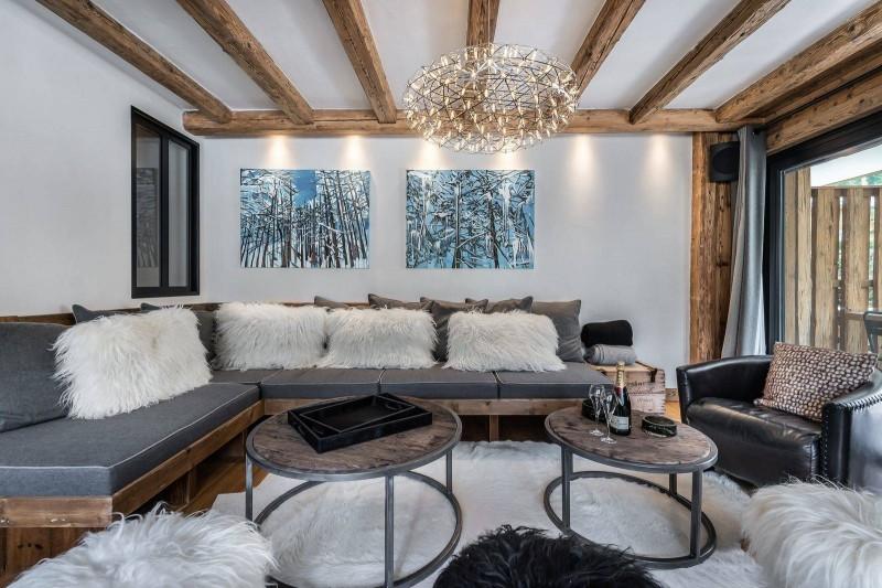 Val d'Isère Location Appartement Luxe Tapiza Séjour 2