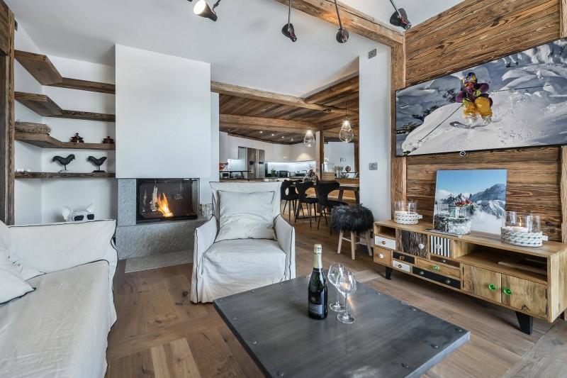 Val d'Isère Luxury Rental Appartment Ucelite Living Area