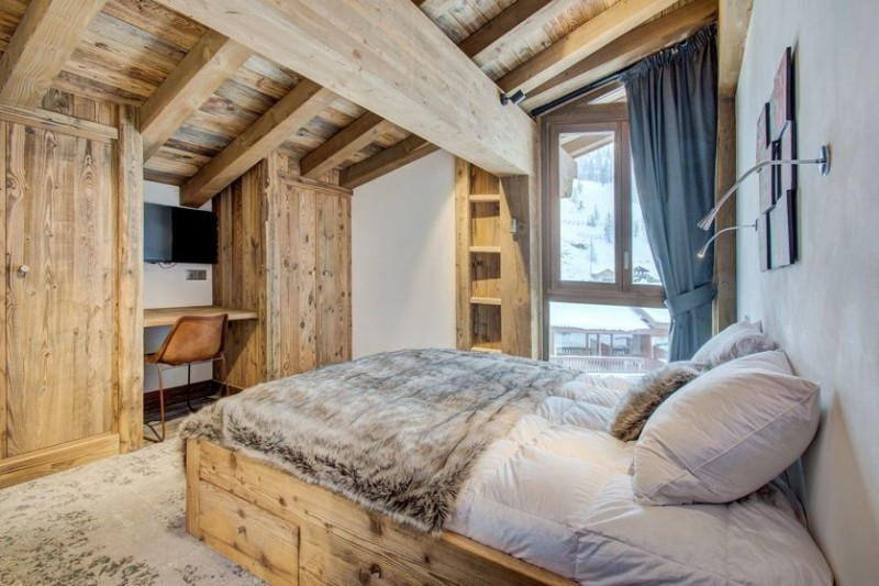 Val d'Isère Location Appartement Luxe Ulalite Chambre 1