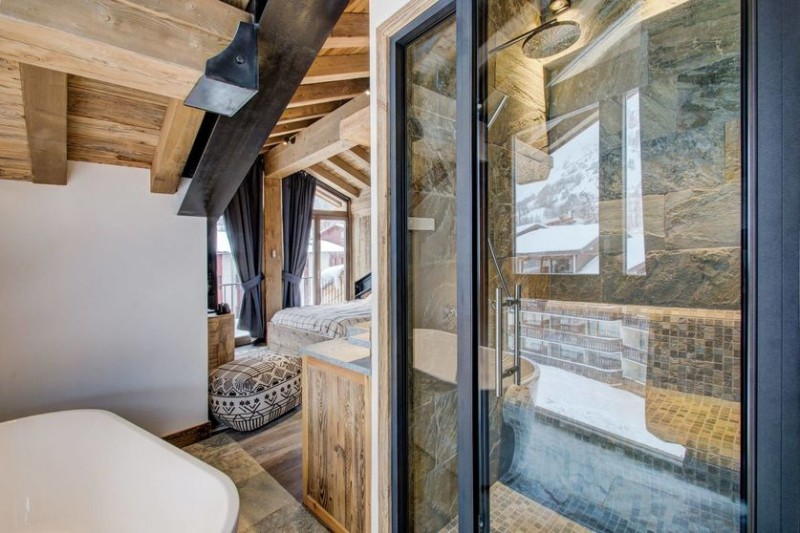 Val d'Isère Location Appartement Luxe Ulalite Douche