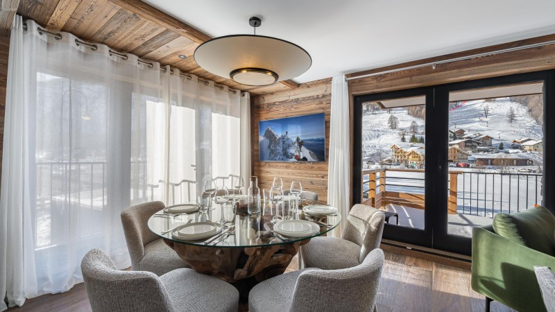Val d'Isère Location Appartement Luxe Varnite Salle A Manger