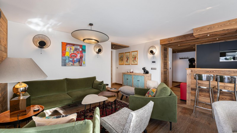 Val d'Isère Location Appartement Luxe Varnite Salon