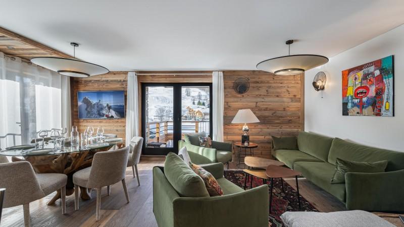 Val d'Isère Location Appartement Luxe Varnite Séjour