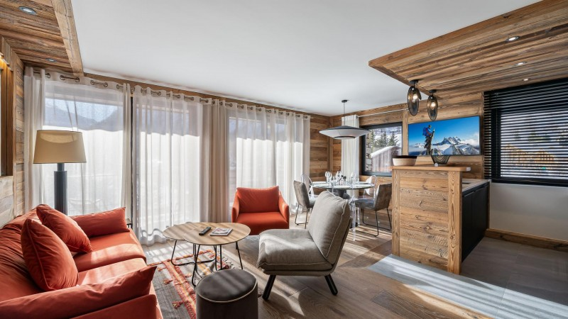Val d'Isère Location Appartement Luxe Varnyte Salon