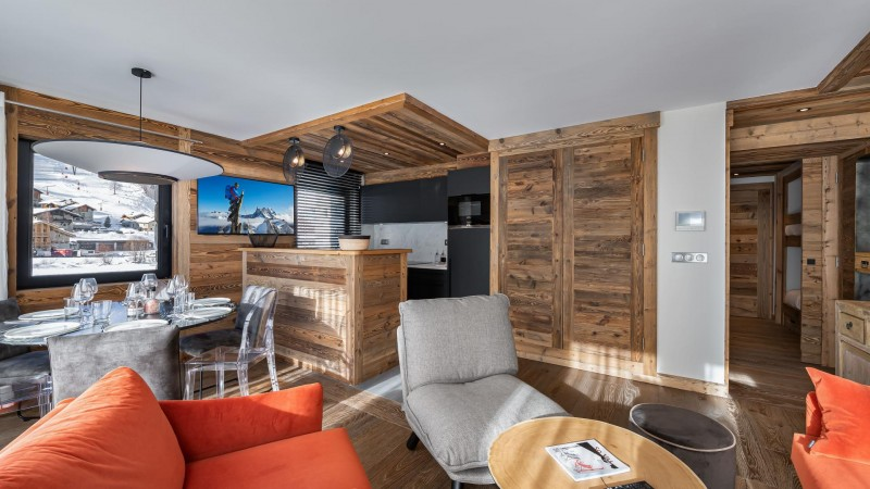 Val d'Isère Location Appartement Luxe Varnyte Séjour