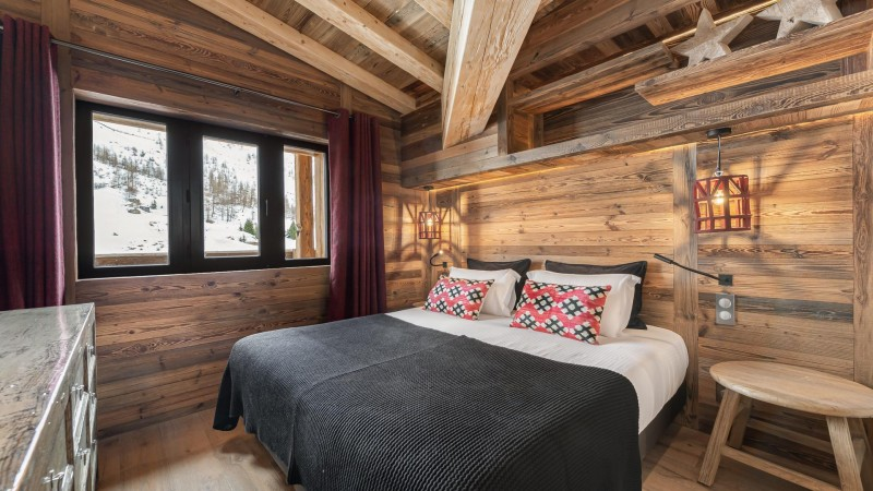 Val d'Isère Location Appartement Luxe Varvite Chambre2